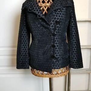Black jacket with Polka dots
